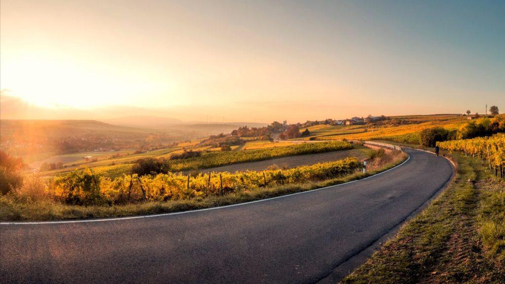Paysage d'une route en campagne détente